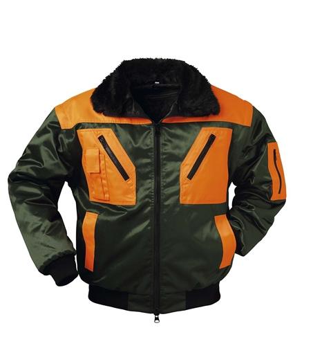 Arbeitsjacke Pilot FGrün/Orange Rotdorn
