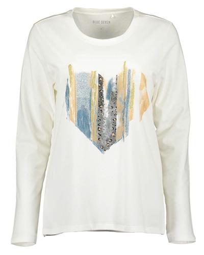 Damen Shirt Rundhals Langarm