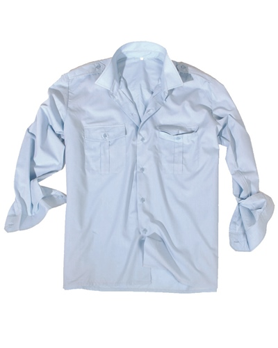 Diensthemd 1/1 Arm Hellblau