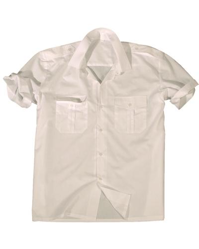 Diensthemd 1/2 Arm Weiss