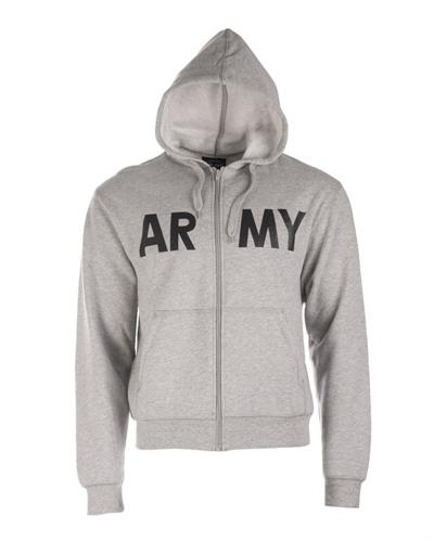 """Kapuzensweatjacke """"Army"""" Grau"""