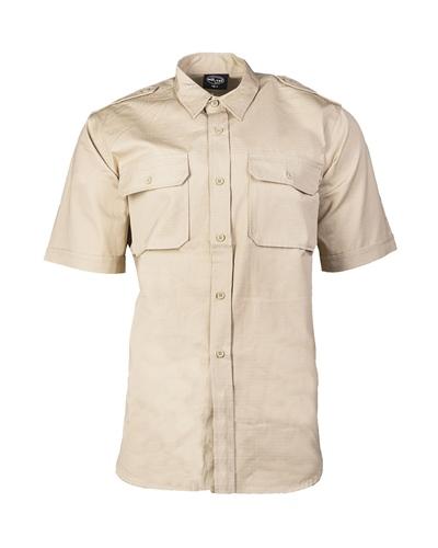 Tropenhemd 1/2 Arm Khaki