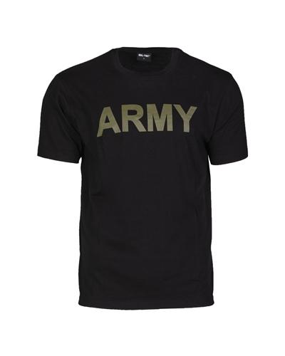 "T-Shirt ""Army"" Schwarz"