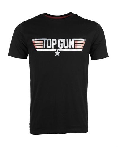 """T-Shirt """"Top Gun"""" Schwarz"""